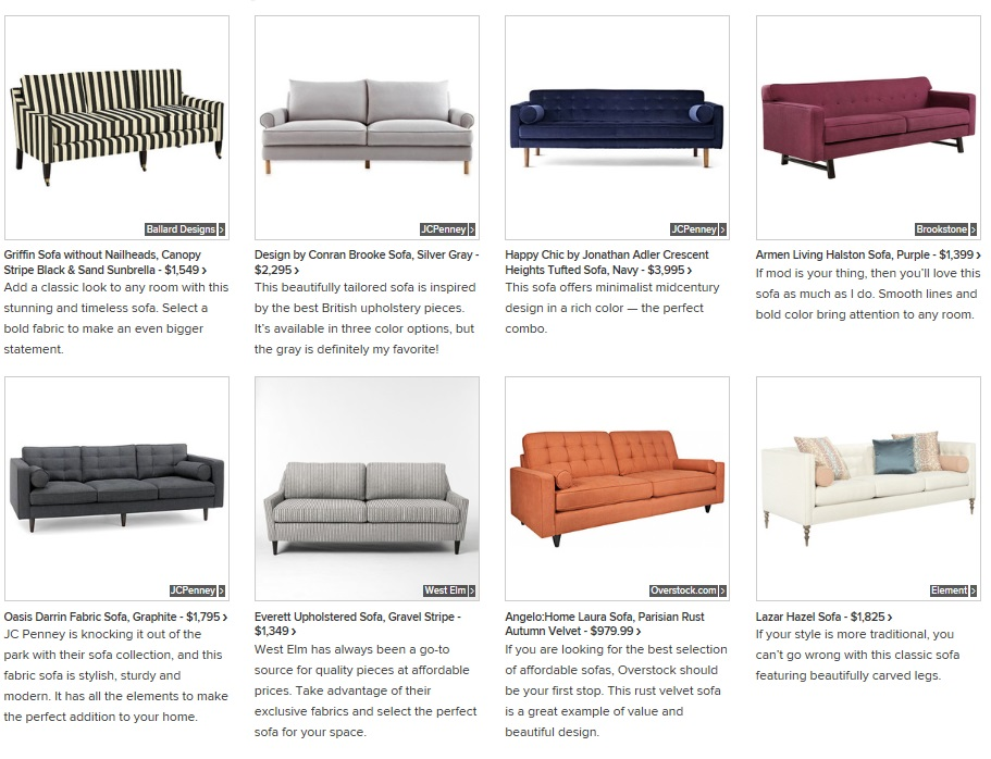 This Month On Houzz Beautiful And Affordable Sofas Layers Of