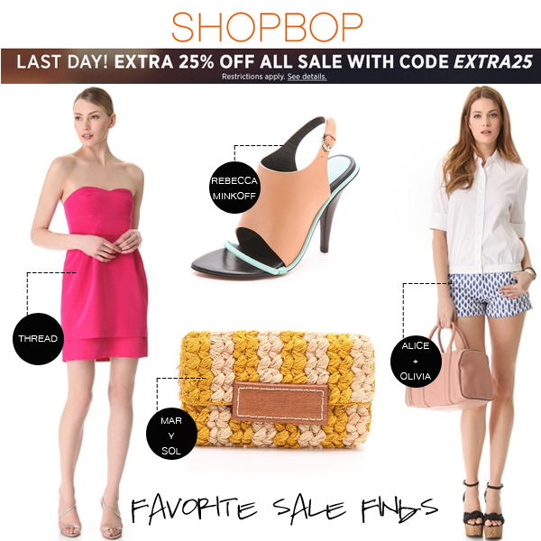 Shopbop Extra 25% off sale!