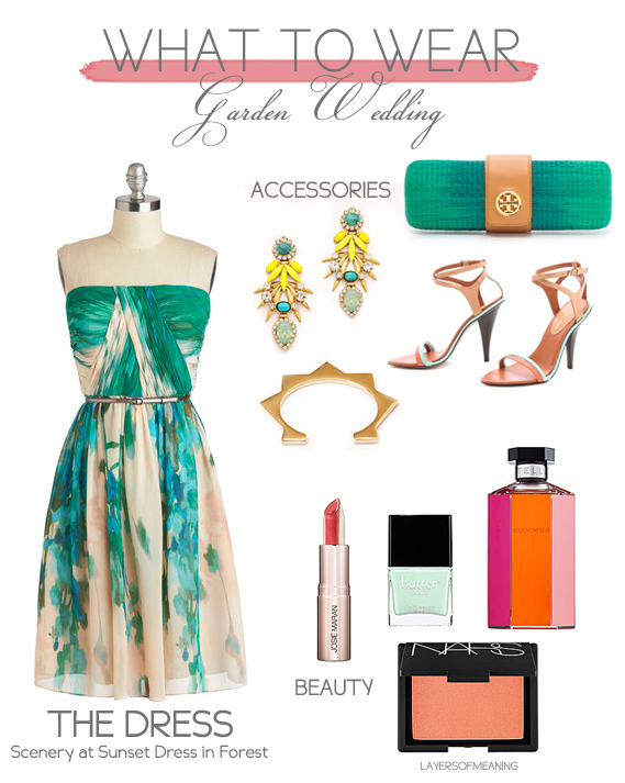 Layers Of Meaning What To Wear Garden Wedding