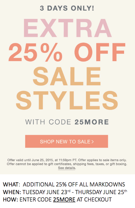 Check It Out: Shopbop's Extra 25% Off Sale